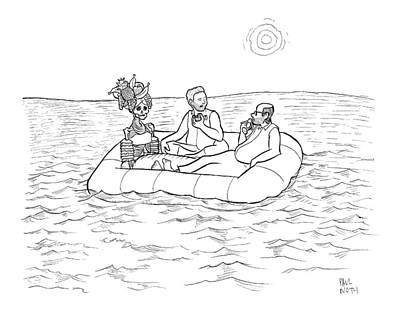 Paul-noth Drawing - New Yorker February 9th, 2009 by Paul Noth