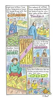 Captionless: Shoppers Of Mystery Art Print