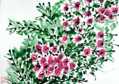 Fireworks - Zenmoksha Flowers by Baljit Chadha
