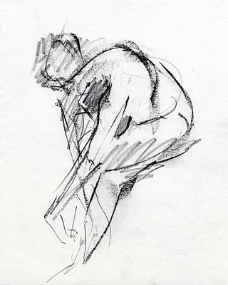 Female Figure Drawing - Rcnpaintings.com by Chris N Rohrbach