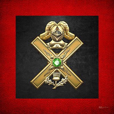 Digital Art - 29th Degree Mason - Scottish Knight Of Saint Andrew Masonic Jewel  by Serge Averbukh