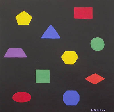 Painting - 2d Shapes In Color by Martin Blakeley