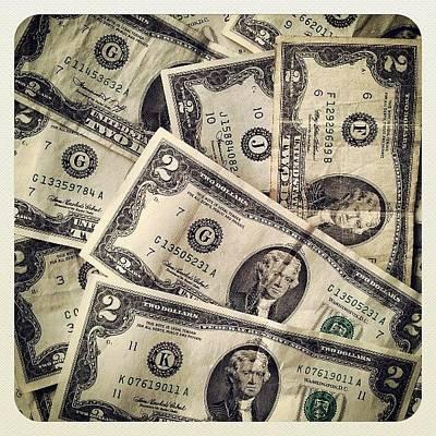 Money Photograph - #2dollarbill #2 #tagforlikes #money by Mandy Shupp
