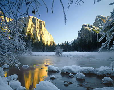 Photograph - 2m6538-yosemite Valley In Winter by Ed  Cooper Photography