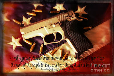 2nd Amendment Art Print by Bob Hislop