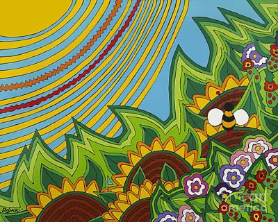 Sunflowers Art Print by Rojax Art