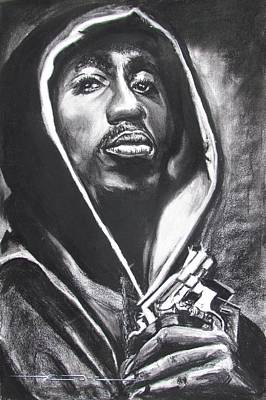 Drawing - 2pac - Thug Life by Eric Dee