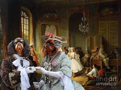 Painting -  English Toy Spaniel - King Charles Spaniel Art Canvas Print by Sandra Sij