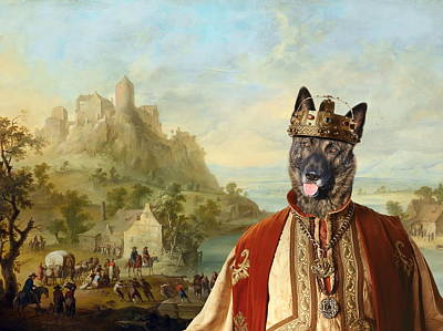 Hollandse Herdershond - Dutch Shepherd Art Canvas Print Print by Sandra Sij