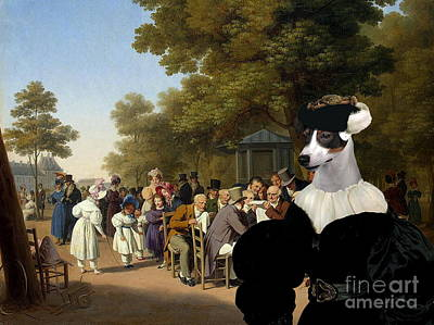 Painting -  Jack Russell Terrier Art Canvas Print by Sandra Sij