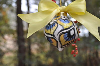 Majolica Maiolica Ornament Original by Amanda  Sanford