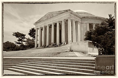 Jefferson Memorial Digital Art -  Thomas Jefferson Memorial by Carol Ailles