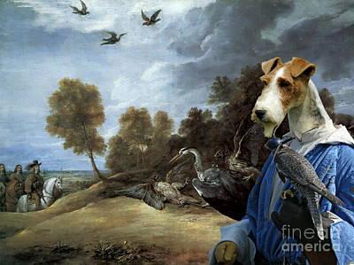 Wire Fox Terrier Painting -  Wire Fox Terrier Art Canvas Print by Sandra Sij