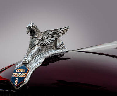 Photograph - 1933 Essex Hood Ornament by Frank J Benz