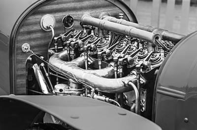 Photograph - 1910 Benz 22-80 Prinz Heinrich Renn Wagen Engine by Jill Reger