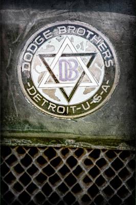 1923 Dodge Brothers Depot Hack Emblem Print by Jill Reger