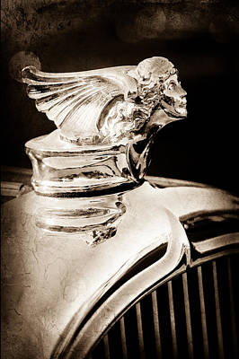 Art Print featuring the photograph 1927 Buick Goddess Hood Ornament by Jill Reger