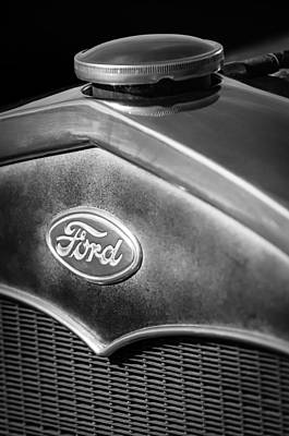 Car Photograph - 1931 Ford Grille Emblem by Jill Reger