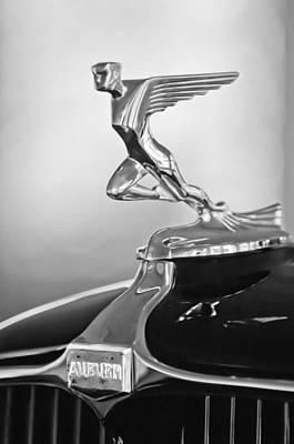 Auburn Photograph - 1932 Auburn 12-160 Speedster Hood Ornament by Jill Reger