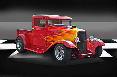 Anchor Down - 1932 Ford Pick Up by Dave Koontz