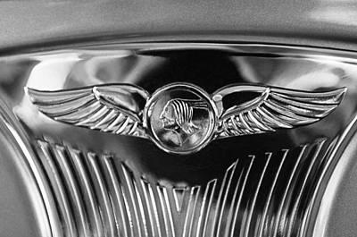 1933 Pontiac Emblem Art Print by Jill Reger