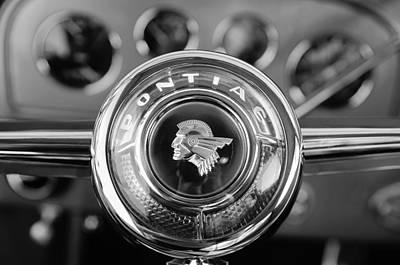 1933 Pontiac Steering Wheel Emblem Art Print by Jill Reger