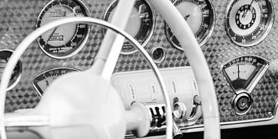 Photograph - 1937 Cord 812 Phaeton Dashboard Instruments by Jill Reger
