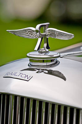Pebble Beach Photograph - 1937 Railton Rippon Brothers Special Limousine Hood Ornament by Jill Reger