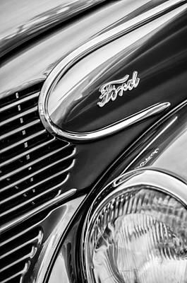 Wagon Photograph - 1939 Ford Woody Wagon Side Emblem by Jill Reger