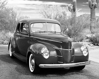 Grey Photograph - 1940 Ford Deluxe Coupe by Jill Reger