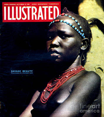 African-american Drawing - 1940s Uk Illustrated Magazine Cover by The Advertising Archives