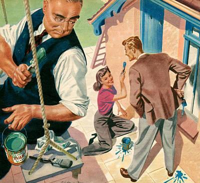 1940s Uk Woman Magazine Plate Art Print