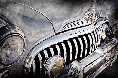 1947 Buick Eight Super Grille Emblem Art Print by Jill Reger