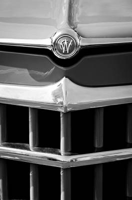 Willys Photograph - 1950 Willys Overland Jeepster Hood Emblem by Jill Reger