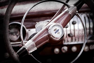 1951 Chevrolet Convertible Steering Wheel Art Print by Jill Reger