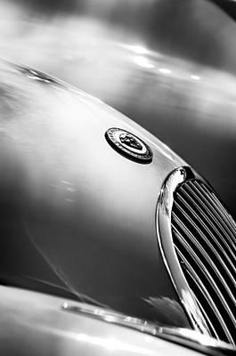 Photograph - 1951 Jaguar Grille Emblem by Jill Reger