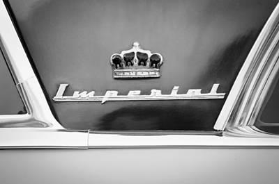 Photograph - 1953 Chrysler Imperial Custom Emblem by Jill Reger