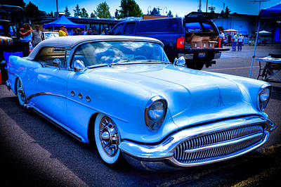 Automobile Photograph - 1954 Buick Century Convertible by David Patterson