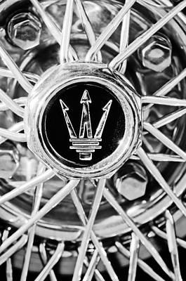 Photograph - 1954 Maserati A6 Gcs Wheel Rim Emblem by Jill Reger