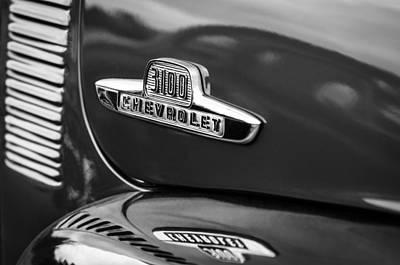 1955 Chevrolet 3100 Pickup Truck Emblem Art Print by Jill Reger