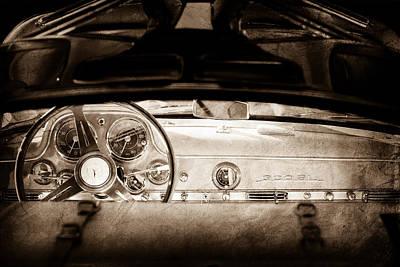 Mercedes Gullwing Photograph - 1955 Mercedes-benz Gullwing Dashboard - Steering Wheel by Jill Reger
