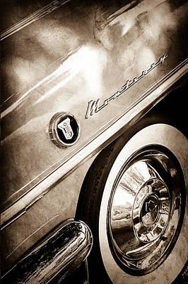 Photograph - 1955 Mercury Monterey Wheel Emblem by Jill Reger