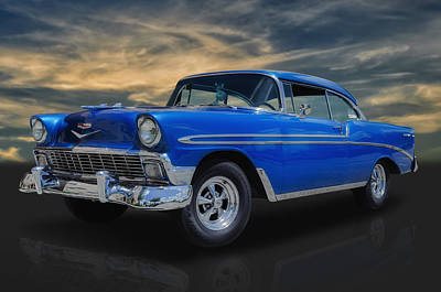 Street Rod Photograph - 1956 Chevrolet Bel Air Sport Coupe by Frank J Benz