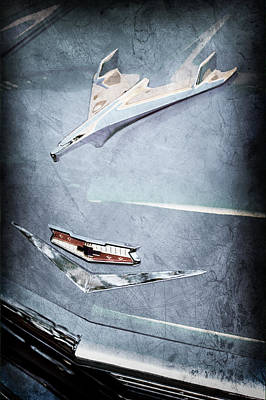 1956 Chevy Photograph - 1956 Chevrolet Hood Ornament - Emblem by Jill Reger