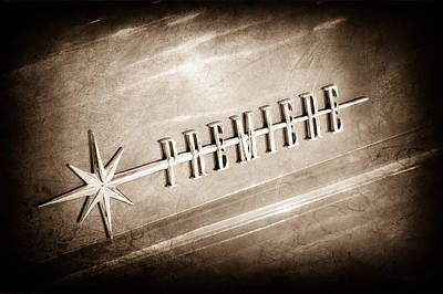 Lincoln Photograph - 1956 Lincoln Premiere Emblem by Jill Reger