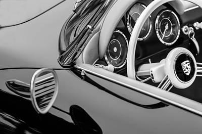 Transportation Photograph - 1956 Porsche 356 A Speedster Steering Wheel Emblem by Jill Reger
