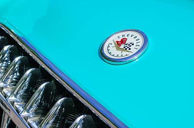 1957 Chevrolet Corvette Emblem Art Print by Jill Reger