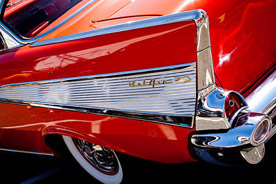 Old Chevy Photograph - 1957 Chevy Bel Air Custom Hot Rod by David Patterson