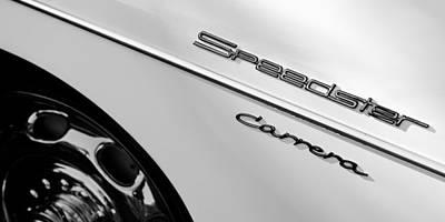 Photograph - 1957 Porsche 356 A Carrera 1500 Gs Speedster Emblem by Jill Reger