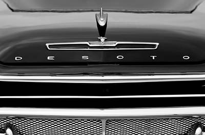 Photograph - 1958 Desoto Firesweep Convertible Hood Ornament by Jill Reger